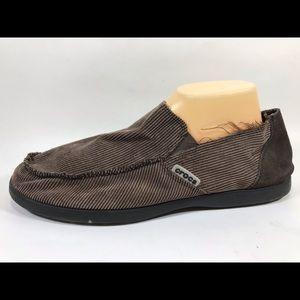 Crocs Brown Corduroy Loafers Men's 12
